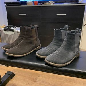 Men's Suede Chelsea Boots - Size 9 - Two Pairs